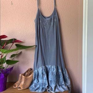 Light navy blue/grey midi dress